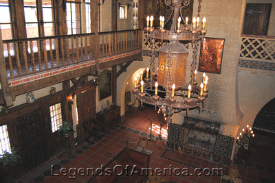 Scotty's Castle, CA - Great Hall From Above