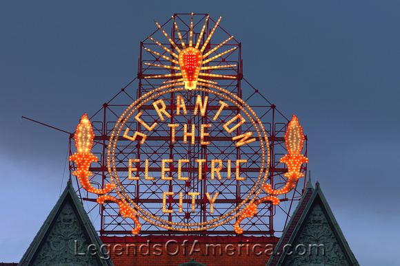 Scranton, PA - Electric City Sign