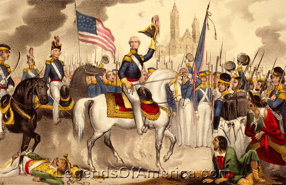 General Winfield Scott enters Mexico City in 1847