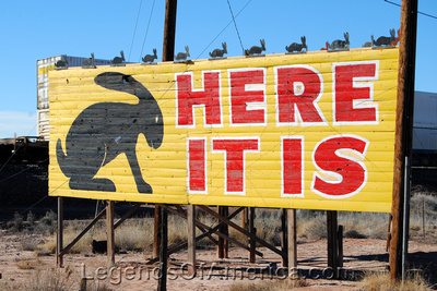 Joseph City, AZ - Jackrabbit Trading Post Sign