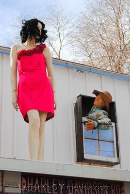 Seligman, AZ - Rusty Bolt - Roof Mannequin