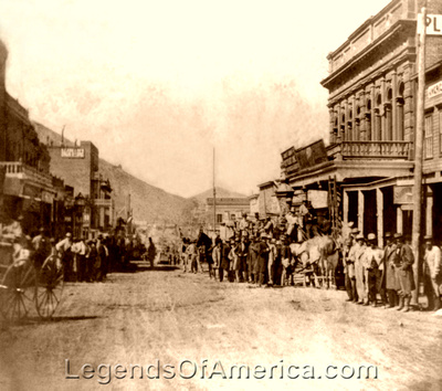 Virginia City, NV - Pioneer Stage leaving Wells  Fargo