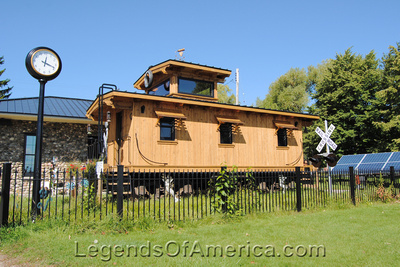 Northport, MI - Old Caboose