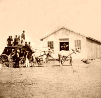 Hays, KS - Overland Stage, 1867