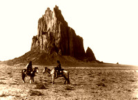 Navajo Near the base of Old Shiprock 1914