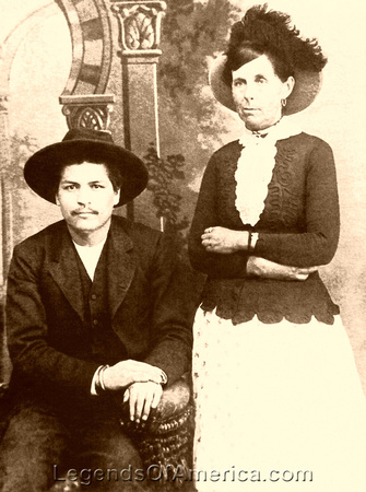 Belle Starr and Blue Duck, outlaws