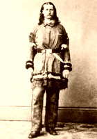 Bill Hickok, lawman & gunfighter, standing in buckskins