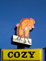 Springfield, IL - Cozy Dog Sign - Close