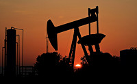 Goldsby, OK - Pump Jack at Sunset