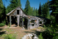 Dilapidated cabin in Coloma Ghost TownMT-blm