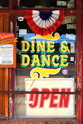 Oatman, AZ - Dine & Dance Window