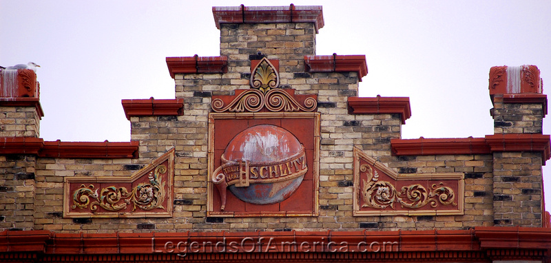 Milwaukee, WI - Schlitz Park - Logo on Building