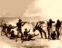 Wounded Knee - Opening Fight