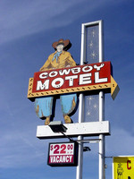 Amarillo, TX - Cowboy Motel Sign