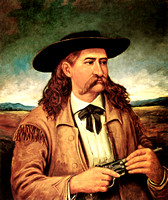 Bill Hickok, lawman & gunfighter painting