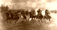 Cowboys Galloping, 1917