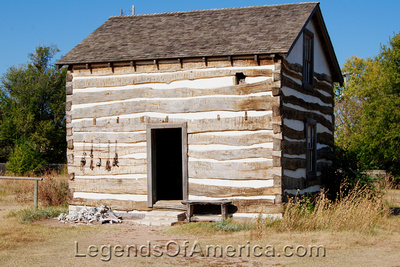 Wichita, KS - Old Cowtown - Heller Cabin