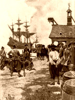 Landing with African-Americans at Jamestown, VA