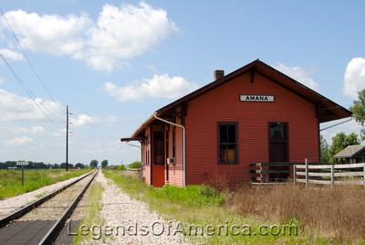 Amana, IA - Railroad Depot
