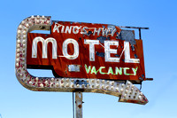 Old neon motel sign on King's Highway in CaliforniaCarolHighsmith2012