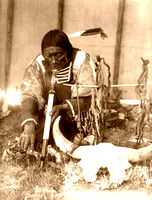 Dakota Sioux - Man with calumet, 1907