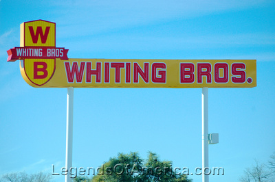 Moriarty, NM - Whiting Brothers Sign