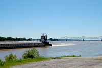 Cairo, IL - Barge and Bridge.