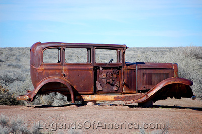 Painted Desert, AZ - Route 66 Car