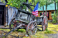 Wagon with Flag