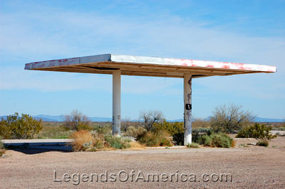 Aztec, AZ - Remains of an Old Gas Station
