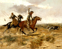 Cowboy Sport-Roping a Wolf CharlesM Russell1890