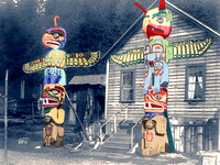 Alert Bay, WA - Carved Totem Poles
