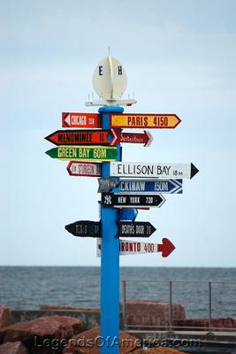 Egg Harbor, WI - Sign