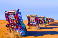 Amarillo, TX - Cadillac Ranch - Posterized
