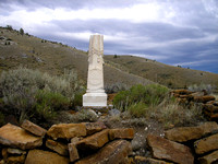 Bannack, MT - Cemetery Monument