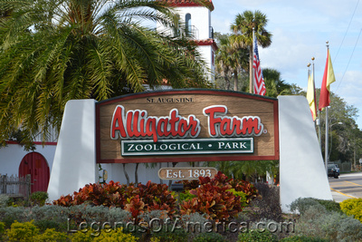 St. Augustine, FL - Alligator Farm Sign