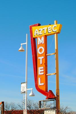 Albuquerque, NM - Aztec Motel Sign