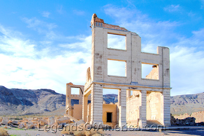 Rhyolite, NV - Cook Bank Building Ruins