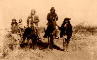 Geronimo with friends, 1886