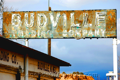 Budville, NM - Trading Company Sign