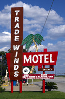 Grand Prairie, TX - Tradewinds Motel Sign